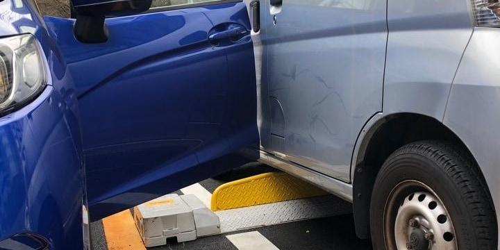 車 を ぶつけ られ たら