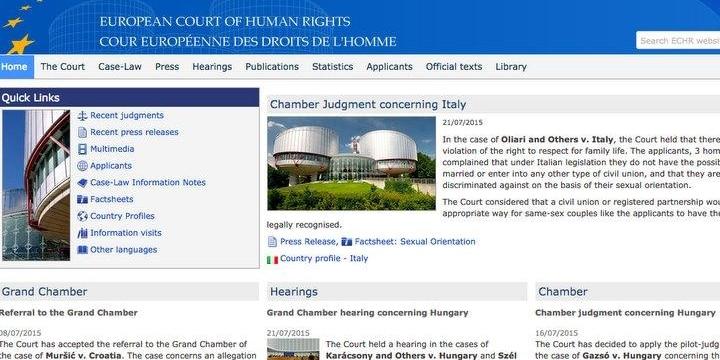 「同性婚」認めないのは「人権侵害」 欧州人権裁判所がイタリア政府に賠償命令