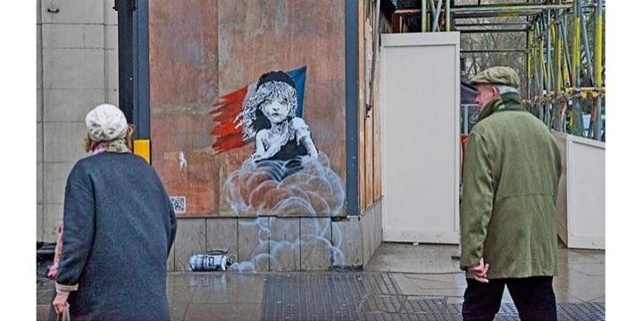 建物の壁に勝手に描かれた「バンクシー」の芸術作品・・・「誰のもの」になるのか?