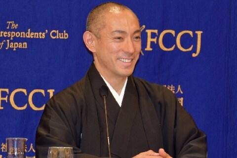 海老蔵さんの「ストイックな健康管理」 外国人記者が興味津々